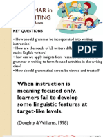 GRAMMAR IN SECOND LANGUAGE WRITING