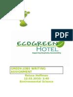 Green Jobs Writing Assignment