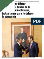 05-11-2019 El gobernador Héctor Astudillo y el titular de la SEP, Esteban Moctezuma, tratan temas para fortalecer la educación.