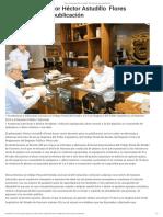 07-11-2019 Firma el gobernador Héctor Astudillo Flores decretos para su publicación.