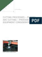 Cutting processes - plasma arc cutting - process and equipment considerations - Job Knowledge 51- TWI