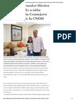 09-11-2019 Recibe gobernador Héctor Astudillo a niña acapulqueña Consejera Infantil de la CNDH.
