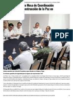 18-11-2019 Encabeza Astudillo Mesa de Coordinación Estatal para la Construcción de la Paz en Guerrero.
