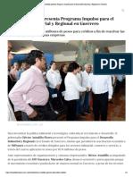 21-10-2019 Héctor Astudillo presenta Programa Impulso para el Desarrollo Industrial y Regional en Guerrero.