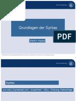 Syntax-Grundbegriffe