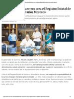 28-11-2019 Gobernador de Guerrero Crea El Registro Estatal de Deudores Alimentarios Morosos.