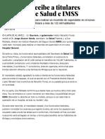 29-11-2019 Astudillo Recibe a Titulares Federales de Salud e IMSS.