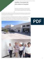 29-11-2019 El gobernador Héctor Astudillo, el secretario de Salud y el director del IMSS visitaron el hospital general de Chilapa.