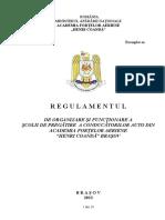 Regulamentul Scolii de Soferi Romania