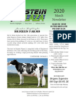 March Holstein Plaza Newsletter