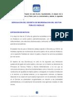 Moción PP sobre decreto de reordenación del sector público andaluz