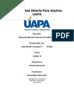 Indicación y espacio para enviar la actividad III.docx