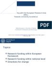 """Melita Kovacevic, Vice-Rector, University of Zagreb, """"Research Funding with the European Research Area (ERA)"""