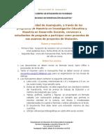 Convocatoria Encuentro Posgrados MIE-MDD