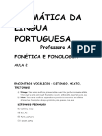FONÉTICA E FONOLOGIA - AULA 2