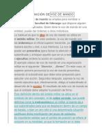 DEFINICIÓN DEVOZ DE MANDO
