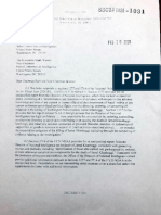 Transmittal Letter From ODNI to Senate Intelligence Committee