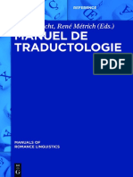 Albrecht, Jörn, Métrich, René - Manuel de traductologie-De Gruyter (2016)