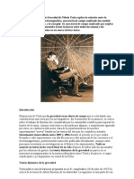 La Teoria Dinamica de La Gravedad de Nikola Tesla