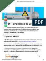 NR-26 - Sinalização de Segurança _  cores e simbolos