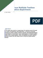 Single Versus Multiple Textbox Event Creation Experiment