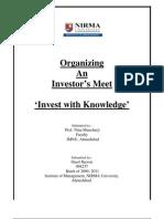 PDBE-Organizing Investors Meet