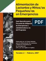 Alimentacion Infantil en Emergencias