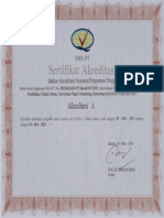 Sertifikat Akreditasi PTM