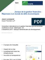 GrantThornton Leaders internationaux de la gestion financière Réponses à un monde de défis économiques
