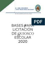 BASES PARA EL QUISCO ESCOLAR NSC 2020