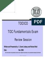 TOCICO TOC Fundamentals Exam - 66