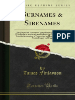 Surnames Sirenames (Forgotten Books)