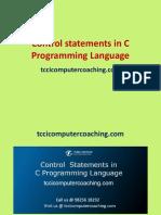 Control Statements in C Programming Language