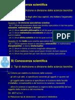 Tipi di distinzione e divisione delle scienze teoriche