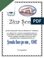 ZIUA ȘCOLII ,,SAMSON BODNĂRESCU'' GĂLĂNEȘTI