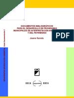 DOCUMENTOS BIBLIOGRÁFICOS PARA EL DESARROLLO DE PROGRAMAS MUNICIPALES DE INTERPRETACIÓN AMBIENTAL Y DEL PATRIMONIO