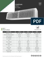 Euronics Industrial  Air Curtain-technical-sheet