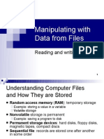 Manipulating With Data From Files
