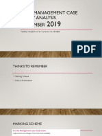 CIMA Management Case Study Analysis