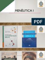 Hermenêutica I
