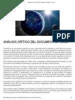 "ANÁLISIS CRÍTICO DEL DOCUMENTAL ""HOME"" – 4° Poder"