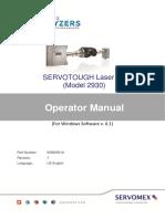 servotough_lasersp_2930_operator_manual