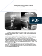 Bombardamentele atomice de la Hiroshima si Nagasaki