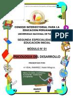 MODULO N° 01-AUTOEVALUACIÓN PSICOLOGIA DEL DESARROLLO