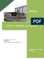 DESARROLLO  LEYES ESPECIALES II