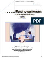 Tu Salud Mental no es una Mercancía - Es un Compromiso Contigo Mismo