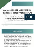 Felipe Martinez Rizo- La Evaluacion en Mexico