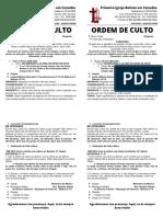 ORDEM DE CULTO 04-03-2020 - QUARTA-FEIRA-As Nossas Orações - Repetição de Palavras - Mateus 6.7-8