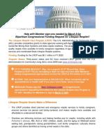 Dear Colleague Appropriations Alert FY2021