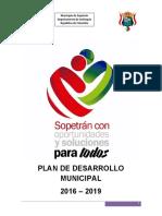 Plan Dllo Sopetraìn 2016-2019  Proyecto de Acuerdo